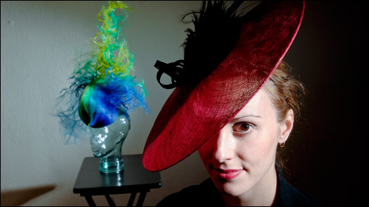 Emily Clark, 28, founder of the new Indianapolis company Emilliner, wants to resurrect millinery in the Midwest.
