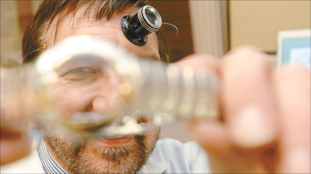 Bill Rostiser has been a watchmaker for Windsor Jewelry, just south of Monument Circle, for 38 years.