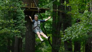 Arts and Entertainment Editor Lou Harry unleashed his inner outdoorsman in August at Eagle Creek Park's Go Ape adventure course, which includes a zip line.