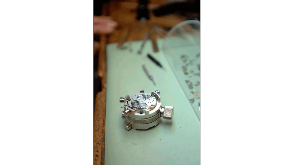 To become a 21st Century Certified Watchmaker, Rostiser must prove he can repair four types of modern watches.