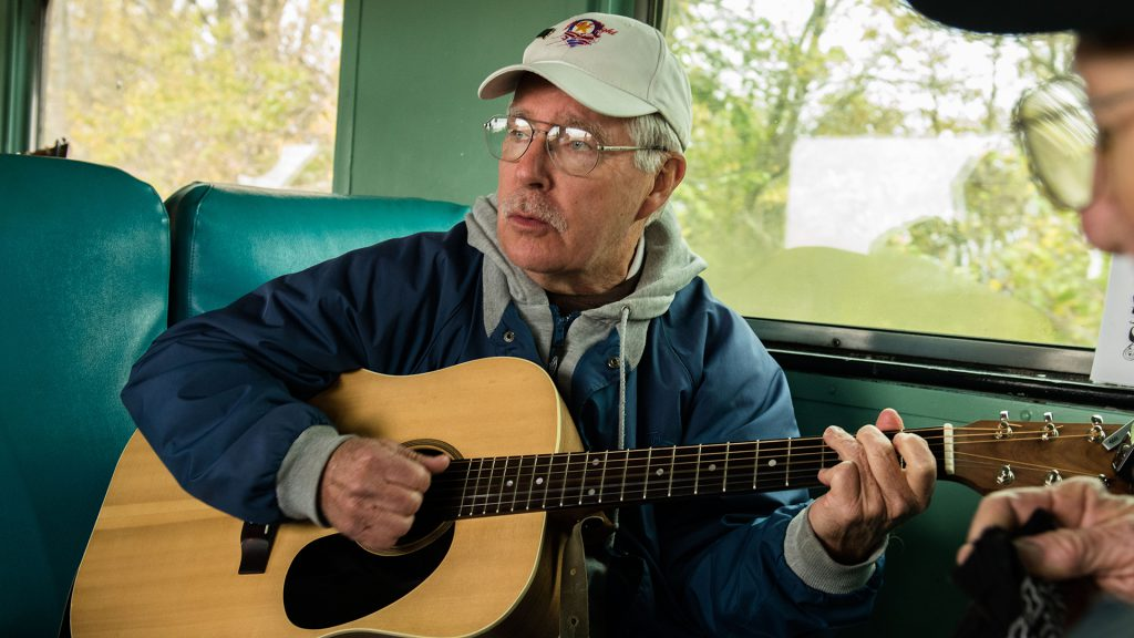 Part two of the Thorntown Bluegrass Jammers is guitarist Alan Frodge.