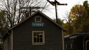 The Hobbs freight depot became Hobbs Station when it was moved to Noblesville's Forest Park in the mid-1970s.