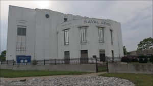 Built over two years as a Works Progress Administration project, the building opened in 1938 as the Indianapolis Naval Reserve Armory.