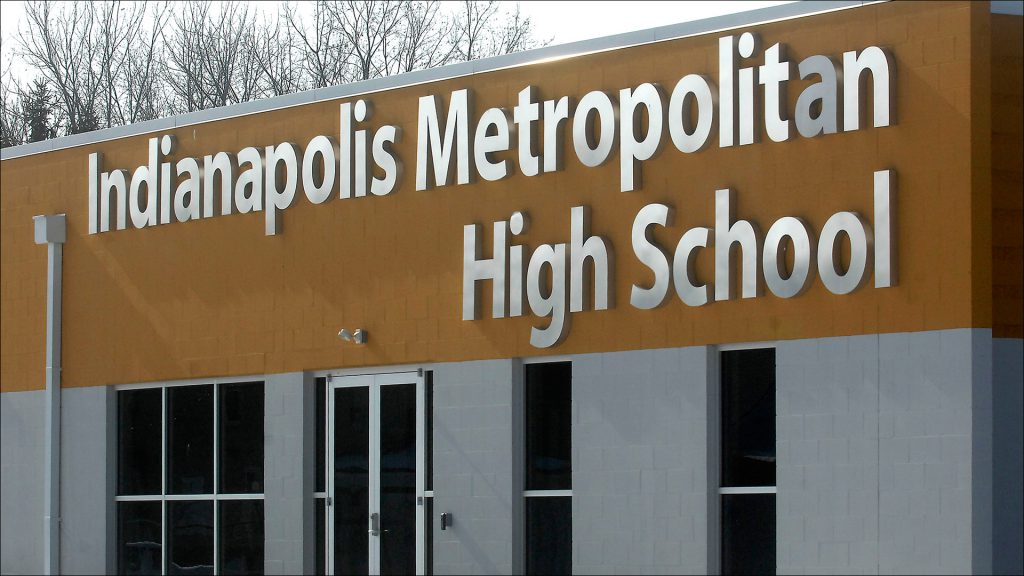 In less than three months, administrators at Indianapolis Metropolitan High School decided to implement a school-wide overhaul.