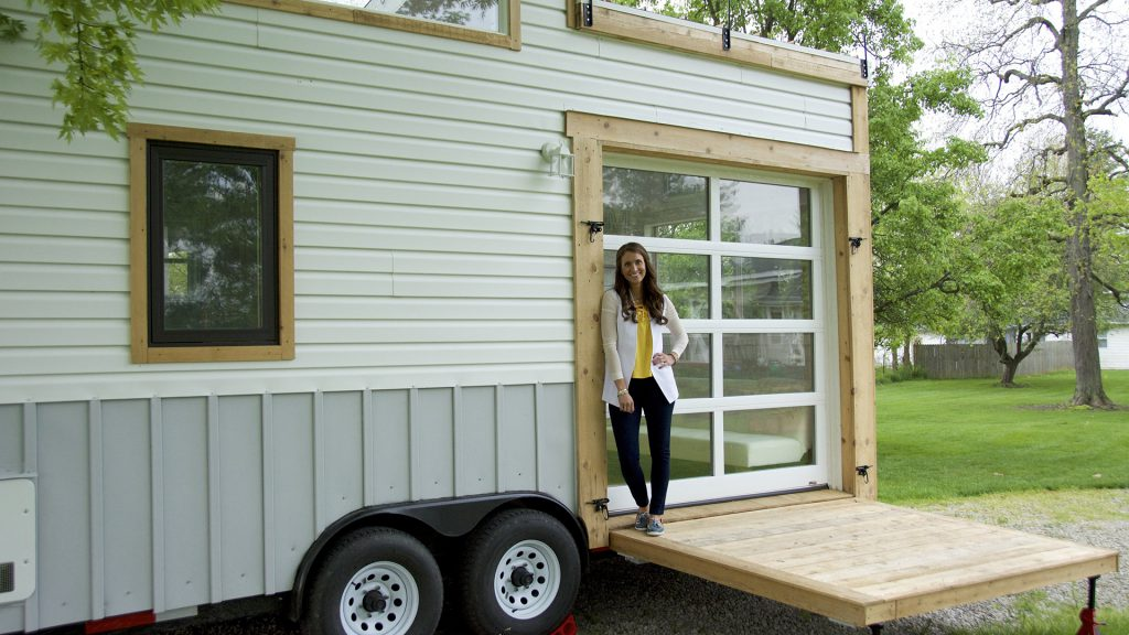 Maggie Daniels co-owns a tiny house in Zionsville that she offers for rent on her business Try It Tiny. She also stays in the house when she rents out her main house.