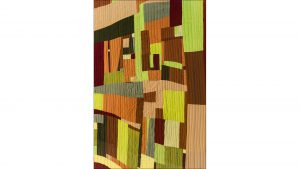 Vegetation, by Loretta Bennett, pays homage to Gee's Bend quilting.