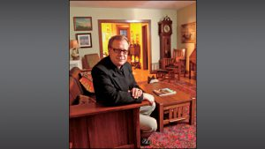 Historic Landmarks leader Marsh Davis is right at home in 100-year-old residence.