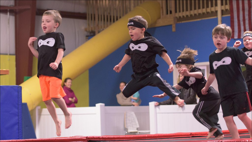 Westfield entrepreneur Casey Wright offers her Ninja Zone curriculum at her FUNdamentals gymnastics clubs.