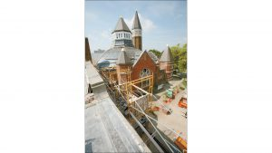 The former Central Avenue United Methodist Church is being renovated into the headquarters for Indiana Landmarks.