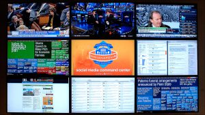 The Social Media Command Center is a Super Bowl first: Volunteers monitor multiple sources for references to Super Bowl XLVI and Indianapolis.
