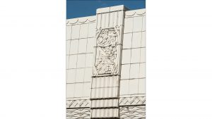 The downtown landmark, known for its art deco features, including terra cotta, dates to 1931.