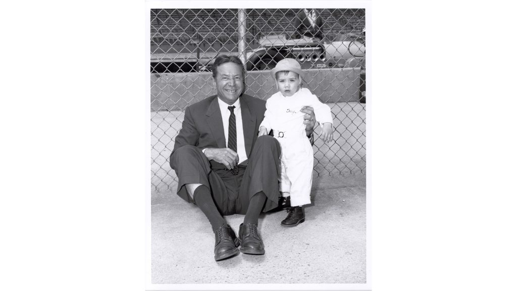 Tony Hulman and his only grandson, Tony Hulman George, in 1961.