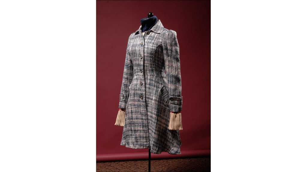 Blush tweed frock coat with metallic thread by Pink Polkadot, $152, at Niche (916 Broad Ripple Ave.).